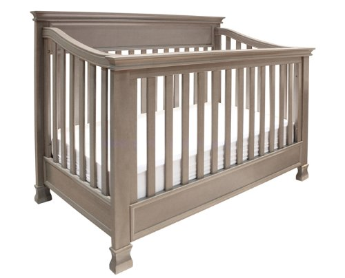 Million Dollar Baby Classic Foothill 4-In-1 Convertible Crib With Toddler Rail, Weathered Grey