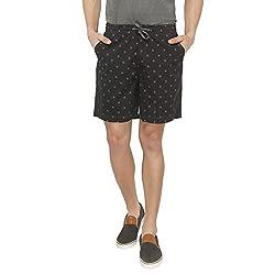 Origin Grey Cotton Printed Shorts for Men
