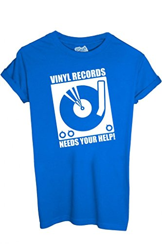 T-SHIRT DISCO VINILE - MUSICA by MUSH Dress Your Style Uomo-L
