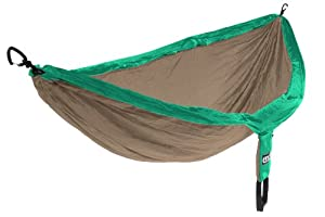 Eagles Nest Outfitters DoubleNest Hammock, Emerald/Khaki (FFP)