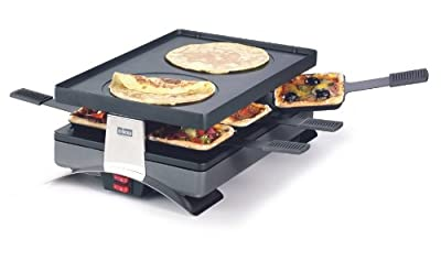 "Pizza and Raclette Grill ""Party"" for 6 Persons From Stockli with Reversible Non-stick Grill Top by Stockli"