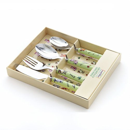 4 Piece Children's Cutlery Set - FARM YARD ANIMALS