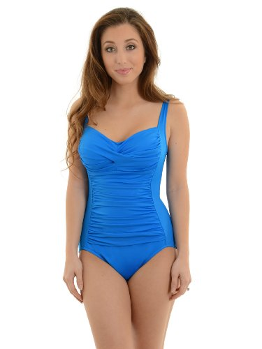 Miraclesuit Women'S 1 Piece Bathing Suit Cobalt Blue Slimming Bathing Suit Sizes: 12