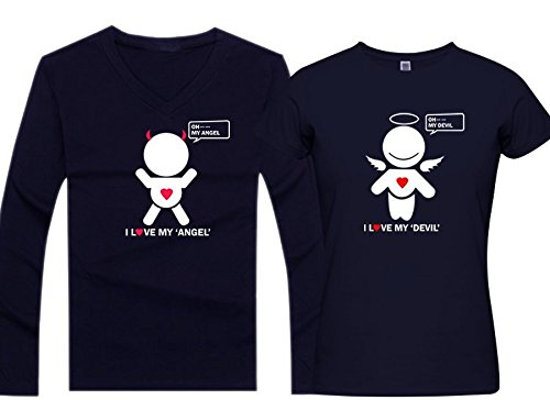 PepperClub-Couple-Tshirt-Set-of-2-For-Men-and-Women-I-Love-My-Angel