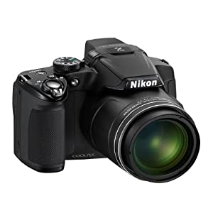 Nikon Coolpix P510 16.1MP Point-and-Shoot Digital Camera (Black) with 4GB Card, Camera Pouch