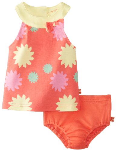 Magnificent Baby Baby-Girls Newborn Sundress And Bloomer Set, Salmon, 3 Months