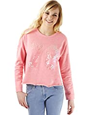Angel Cotton Rich 78 Sequin Embellished Sweat Top