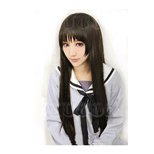 [Cosplay Long Wig Black Hair for Noragami Anime Iki Hiyori Costume] (Noragami Nora Costume)
