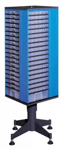 Kunststoff-Drehmagazin, VarioPlus System 19/220, blau, 19-zeilig, 220 Schubladen