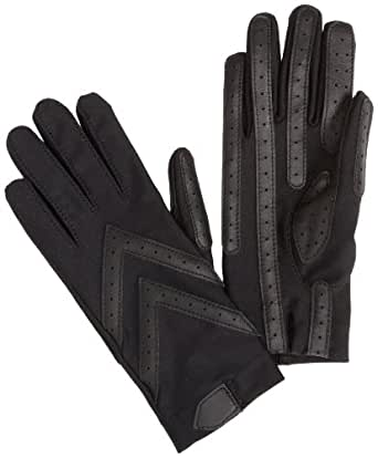 Isotoner Women's Spandex Shortie Unlined Glove,Black,X-Large