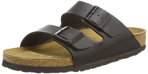 Birkenstock Women's Arizona 2-Strap Cork Footbed Sandal Black 39 M EU (Birkenstock Sandals Women 39 compare prices)