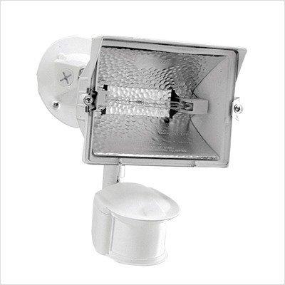 Cooper Lighting Ms188W 180 Degree 300W Halogen Motion Security Floodlight, White