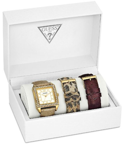 GUESS U0068L2 Gold/Leopard/Lizard Watch Set, GOLD