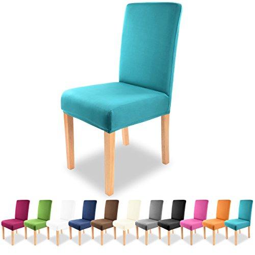 Grfenstayn-Universal-Stuhlhusse-Charles-in-verschiedenen-Farben-fr-runde-und-eckige-Stuhllehnen-Trkis