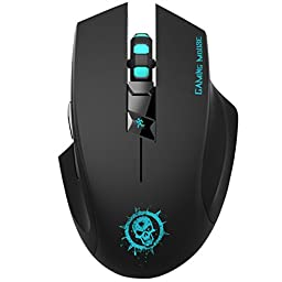 ShiRui L10 Wireless Gaming Mouse Silent Click with 6 Buttons 3 Adjustable DPI for PC, Laptop and Mac