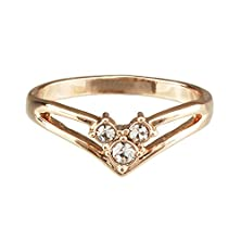buy Fm42 Classic 3-Stone Clear Crystal Crown Style Ring R1 Size 5
