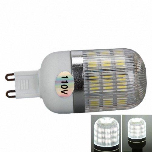 G9 5W 400 Lumen 6000K White Light Corn Light With Silver Side Stripes Cover (110V)