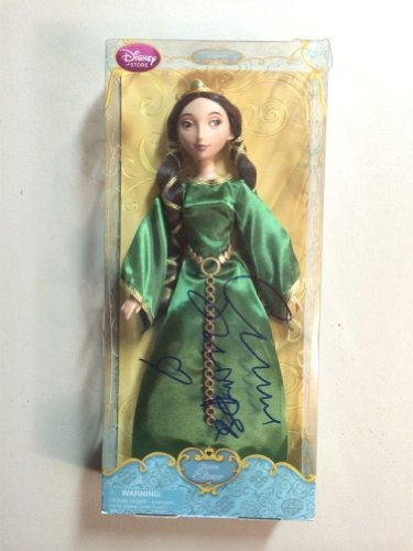 Emma Thompson Brave Queen Elinor Signed Autographed Disney Doll PSA/DNA Certified Authentic COA brett favre autographed hand signed green bay packers 16x20 record breaking photo with psa dna authenticity