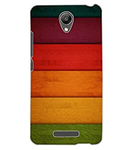 ColourCraft Colourful Bars Design Back Case Cover for XIAOMI REDMI NOTE 2 PRIME