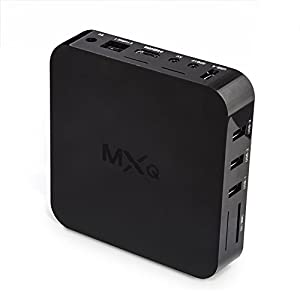 Bros Unite MXQ Amlogic S805 Quad Core Fully loaded Add-ons with kodi xbmc Cloud TV Blu Ray Set Top Tv Box Android 4.4 Kitkat H.265 Full HD 1080P Out , Quad Core 3D Graphic Wifi LAN Miracast Airplay with 1G RAM 8G ROM