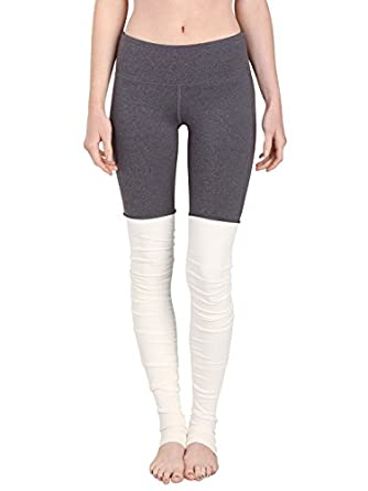 Buy alo Goddess Ribbed Legging Stormy Heather Natural by alo Sport