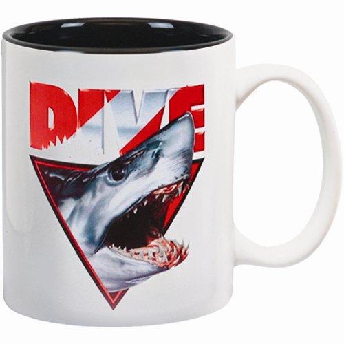 White Coffee Ceramic Mug A/O Shark Head