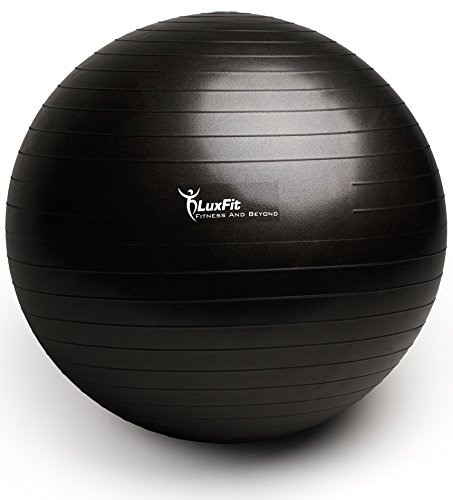 Buy 75cm Exercise Ball: Exercise Ball, LuxFit Premium EXTRA THICK Yoga Ball '2
