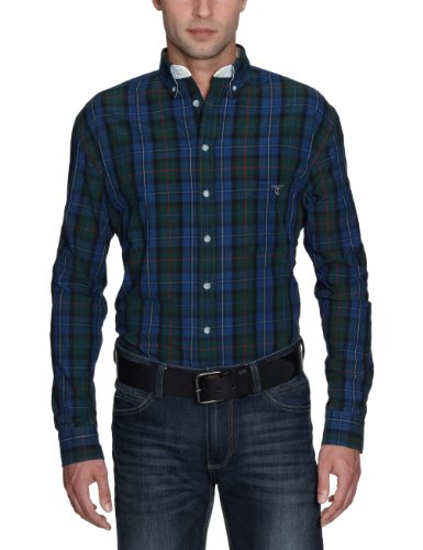 Gant Men's 391786 Casual Shirt Blue (Indigo) 52