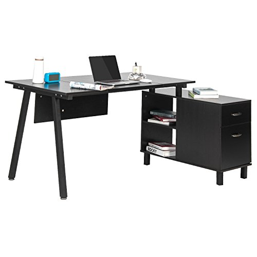 Merax L Shaped Desk With Storage Cabinet Computer Desk