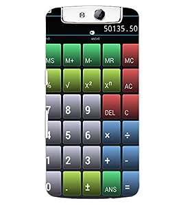 ColourCraft Calculator Design Back Case Cover for OPPO N1
