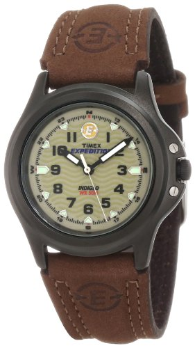 Coleman  Watches special price: Timex Women's T47042 Expedition Metal Field Olive/Brown Leather Strap Watch