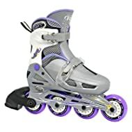 Roller Derby 2012/13 Girl's Cobra Adjustable Inline Roller Skates - Gray/Lavender - I139G