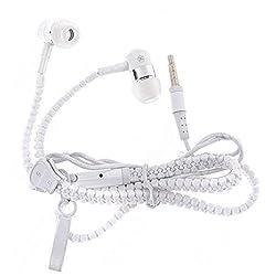 JIYANSHI stylish zipper earphone white Compatible with Huawei G610s
