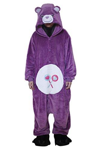 Unisex Sleepsuit Costume Homewear Lounge Wear Kigurumi Onesie Pajamas Bear (Adult Care Bear Costume compare prices)