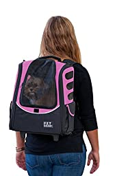 Pet Gear I-GO2 Escort Roller Backpack for cats and dogs, Pink
