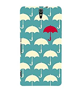 Umbrella Pattern 3D Hard Polycarbonate Designer Back Case Cover for Sony Xperia C5 Ultra Dual :: Sony Xperia C5 E5533 E5563