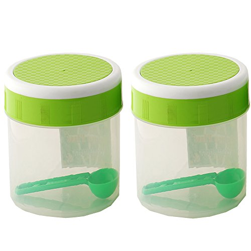 NOVICZ 2 Pcs set 1 Ltr. Capacity Kitchen Food Container Jar Set Storage Box - Kitchen Masala Spices Jars  available at amazon for Rs.160