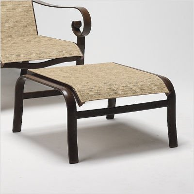 Belden Sling Ottoman Finish: Black, Sling: Cape Code Stripe