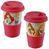 Disney Princess Porcelain Travel Mug with Silicone Grip & Lid