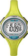 Timex Ironman Women's Quartz Watch with LCD Dial Digital Display and Green Resin Strap - TW5K90200