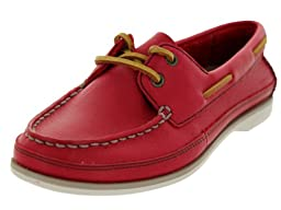 Clarks Women\'s Jetto Boat,Red Leather,US 7.5 M