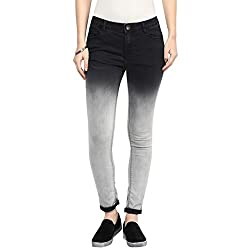 SF Jeans by Pantaloons Women's Slim Fit Jeans (205000005543878_Charcoal_26)