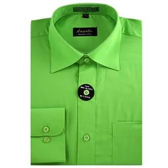 Amanti Dress Shirt-Green-Size: 14.5-Sleeve: 32/33-Neck: 14.5