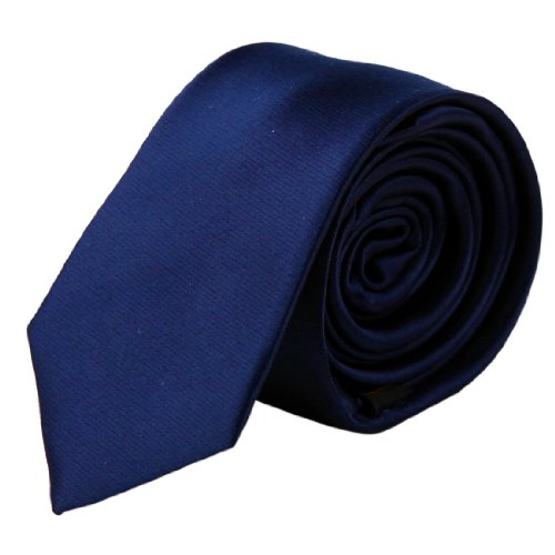 Blue Solid Narrow Necktie Matching Gift Box Set Navy Gift Items Ps1011 One Size Navy