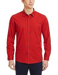 Ruggers Men's Casual Shirt (8907242837413_267908190_Medium_Red)