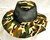 Johnny Reb Camouflage Military Boonie Sun Fishing Wide Brim Bucket Camping Hunting Hat Net Caps