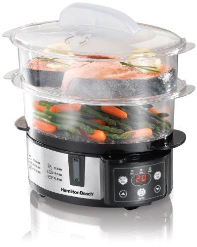 Hamilton Beach Digital Two-Tier Food Steamer, W/ Rice Bowl