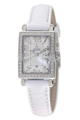 Gevril Women's 8249NL Super Mini Quartz White Mother of Pearl Diamond Watch