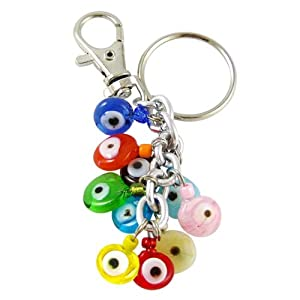 Colorful Handmade Evil Eye Glass Key Chain