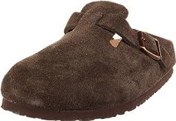Birkenstock Boston Soft Footbed Clog,Mocha Suede,37 M EU